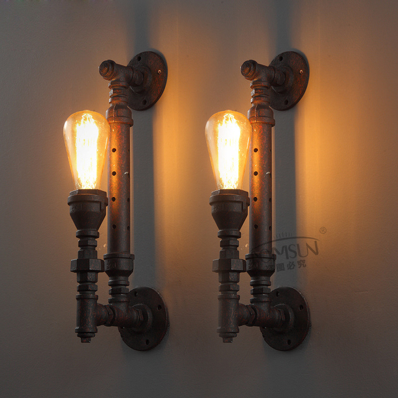 High Quality Modern Wall lamp vintage Creative industrial loft retro wall Sconce Light living room bedroom warehouse stair lamps(China (Mainland))