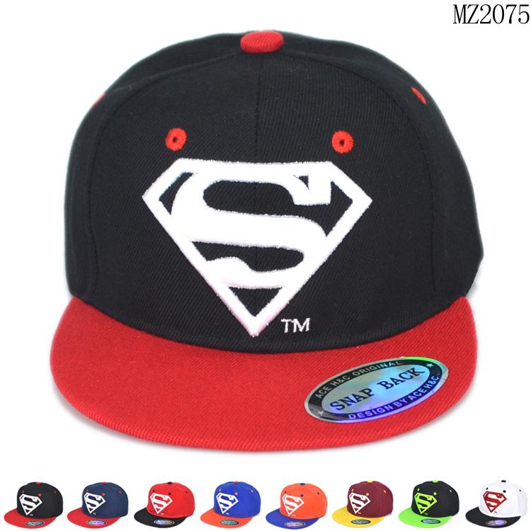 cool fashion children supere man logo style boys adjustable hats kids free size baseball caps 1pcs KH245R(China (Mainland))