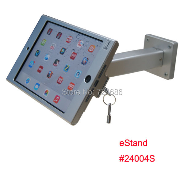 wall mount mini iPad metallic frame stand anti-theft enclosure holder display kiosk brace housing metal case lock - Guangzhou Bill Electronic Technology Co., Ltd store
