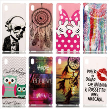 Buy Fashion Painted TPU Silicone Case Owl Skull Back Cover Soft Plastic Cover Sony Xperia M4 Aqua Cell Phone Case Shell for $1.36 in AliExpress store