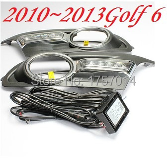 2010~2013 volkswagen golf 6 ABS LED daytime running light  2pcs/set+wire of harness.10W 12V,6500K;super quality Free ship<br><br>Aliexpress