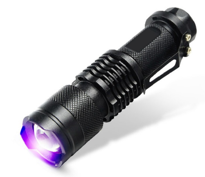 CREE LED UV Flashlight SK68 Purple Violet Light UV 395nm Lamp free shipping(China (Mainland))