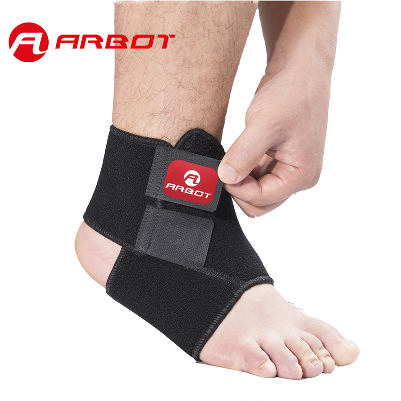 Arbot Black Adjustable Ankle Support Pad Protection Elastic Brace Guard Support Ball Games Running Fitness(China (Mainland))