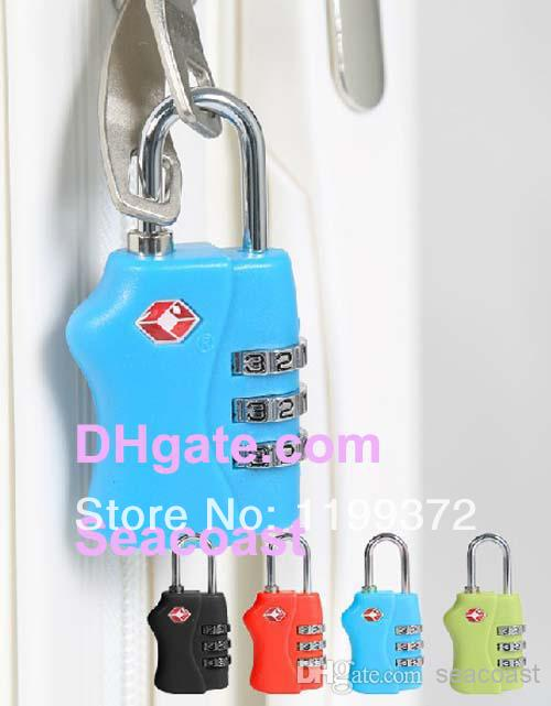 Lowest Price 220pcs/lot TSA Resettable 3 Digit Combination Safe Travel Luggage Suitcase Code Lock Free FEDEX shipping(China (Mainland))