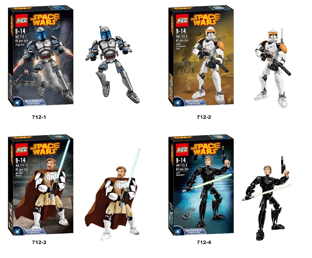 Building Blocks Super Heroes Avengers Minifigures Star Wars Jango Commander Obi-Wan Kenobi Skywalker Bricks Mini Figures Toys<br><br>Aliexpress