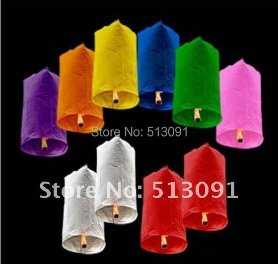 New Style 150pcs pure color Cylindrical Shape flying paper Chinese sky lantern flying paper sky lanterns Wish gift,SL511(China (Mainland))