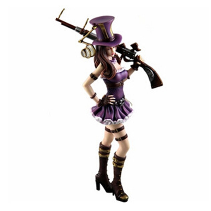 Hand to do Animation Online Games Around Hero Policewoman Caitlin Model Toy Doll Ornaments 1 piece(China (Mainland))