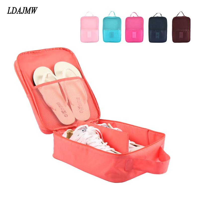 LDAJMW Portable Waterproof Shoes Dust Bag Organizer Storage Pouch Pocket Packing Cubes Handle Nylon Zipper Bag for Travel(China (Mainland))