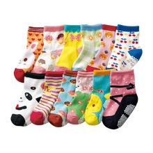 Free shipping ( 12 pairs/lot ) 100% cotton Baby boys girls socks rubber slip-resistant floor socks cartoon kids socks 1-3 years(China (Mainland))