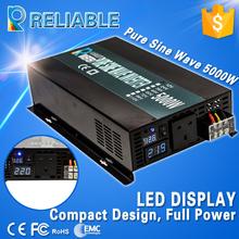 10000W Peak Power DC AC Converter Transformer 5000W Off Grid LED Display Pure Sine Inverter For Home Generator Solar System(China (Mainland))