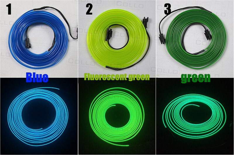 9M A Set EL Wire / For Nissan Altima / Teana / Fuga / Cima / Maxima / Car Romantic Atmosphere Lamp / Console Decorative Strip