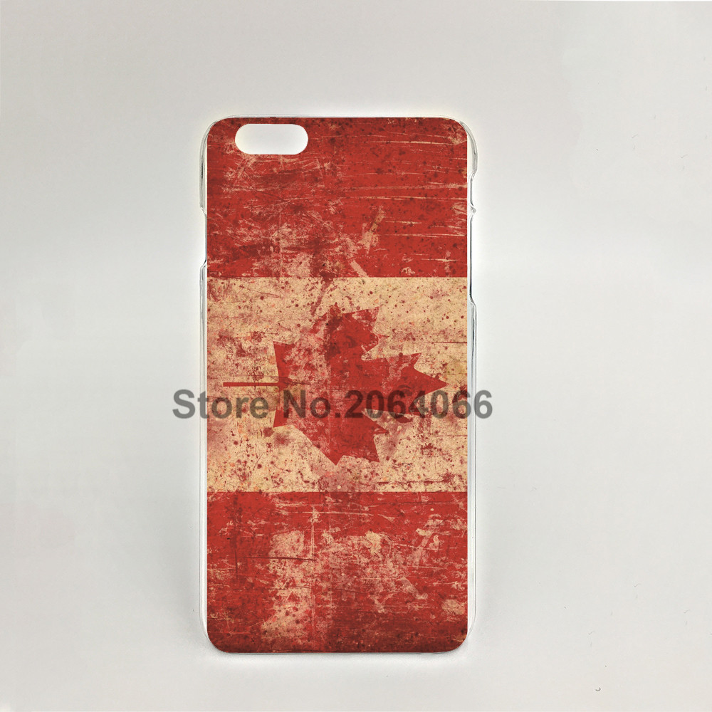 08195 flag canada map leaf red Hard transparent Cover Skin Back Case for iPhone 4 4S 5 5S 5C 6 6S Plus 6SPlus(China (Mainland))