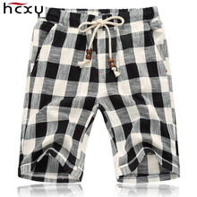 top quality Summer style shorts men 2016 cotton Mens shorts five casual shorts tide male cotton beach linen shorts(China (Mainland))