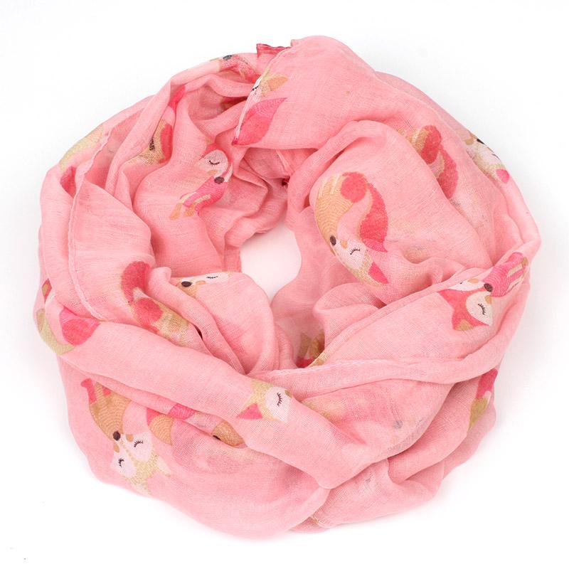 Carton fox print infinity scarf winter women lovly shawls and scarves prices in euros brand foulard bufandas mujer 2015 bandana(China (Mainland))