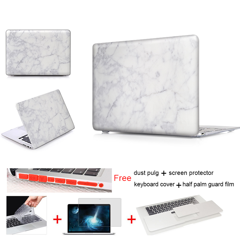 Print Hard Frosted Matte Case For Macbook Case Air Pro Retina 11 12 13 15 inch Laptop Case Marble Pattern Free Keyboard Cover(China (Mainland))