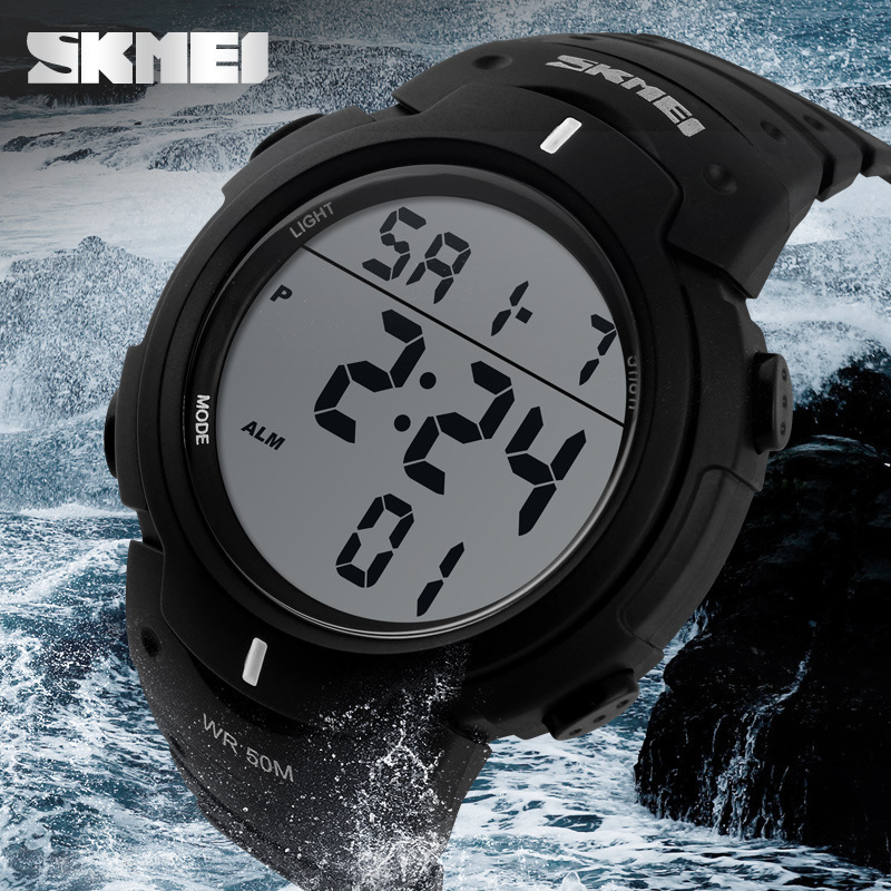 New 2015 Sports Watches Men SKMEI Brand LED Electronic Digital Watch 50ATM Swim relojes montre homme