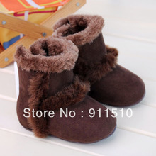 Wholesale 6pcs/lot Brown Warm baby boot firstwalker Cotton toddler shoes sneakers shoes FREE SHIPPING(China (Mainland))