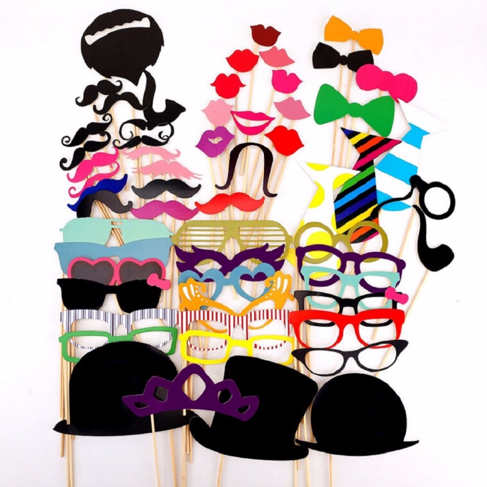 60Pcs/Set Colorful Fun Lip wedding decoration Photo Booth Props wedding party decoration favors birthday new year event favors(China (Mainland))