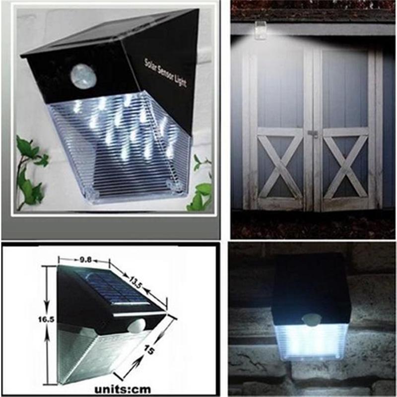 12led solar power motion sensor pir wall mount garden path for 12 light door