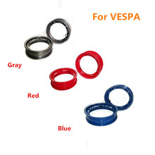 One Pair Bule Red Gray High Quality Scooter PIAGGIO VESPA 10 inch Aluminum Wheel Rim with Nut Oring Valve Stem(China (Mainland))
