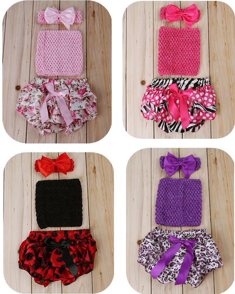 2015 3pcs Baby Girl Clothing Set Newborn Photo Props Photography Kids Headband+Tube Top Wrap chest+Bloomers Short Pants Clothes(China (Mainland))