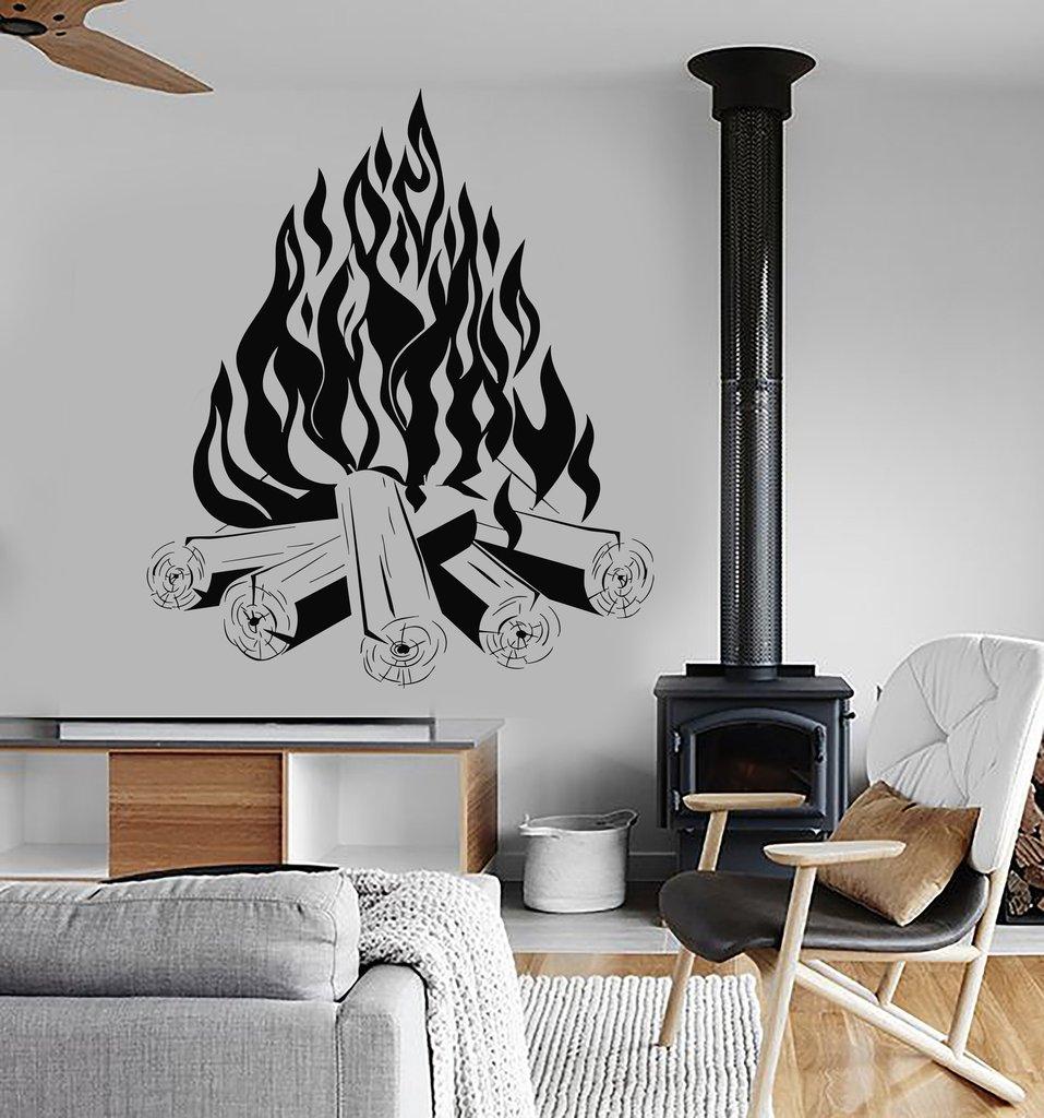fogata fogata camping fuego chimenea arte diseo pegatinas de pared extrable tatuajes de pared de vinilo papel pintado decoraci