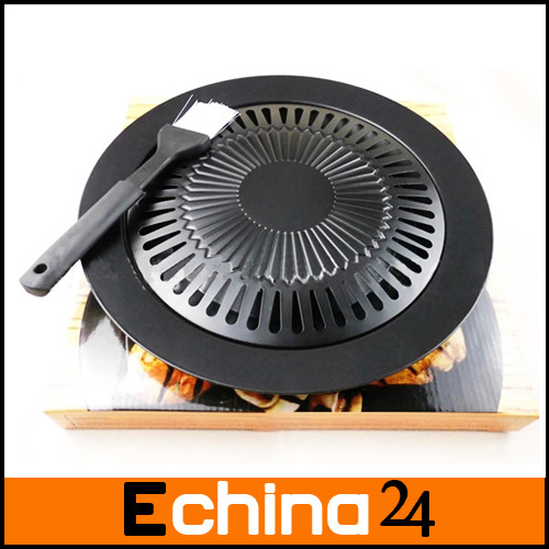 Fashion New Black Brazilian Grill Smokeless Barbeque Grill Electric BBQ Grill Indoor Cooking Grill Plate Free Shipping(China (Mainland))