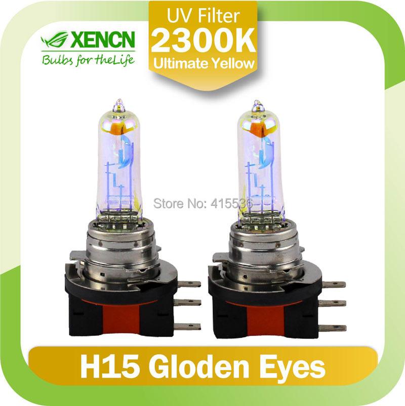 XENCN halogen h15 12V15/55W 2300K Super Yellow Light Germany Quality Halogen Car Bulbs Replace Upgrade Fog Lamp for honda golf(China (Mainland))