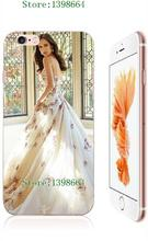 Girl's Dream 2016 New Arrivals Wedding Dresses White Hard Cases For Iphone 6 6s Free Shipping(China (Mainland))