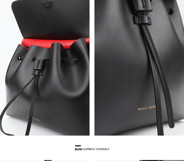 Luxury handbags women bags designer mansur gavriel bucket bag women leather handbags shoulder bag sac a main