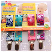 clippasafe pacifier holder baby pacifier clip chupetas para bebe teether holder dummy holder soother saver 2 pcs lot(China (Mainland))