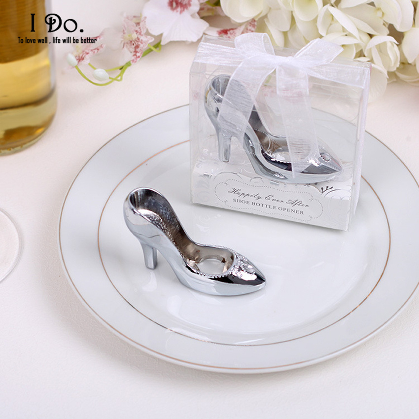 free shipping cinderella shoe bottle opener wedding favors and gifts wedding gifts for guests. Black Bedroom Furniture Sets. Home Design Ideas