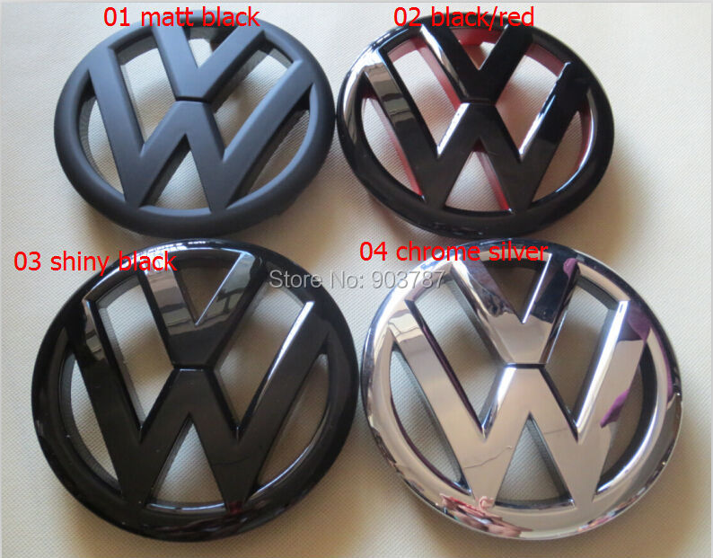 1piece 135mm Volkswagen VW Front Grill Emblem Badge Logo Fit Golf 6 GTI R20 Polished Black red retail<br><br>Aliexpress