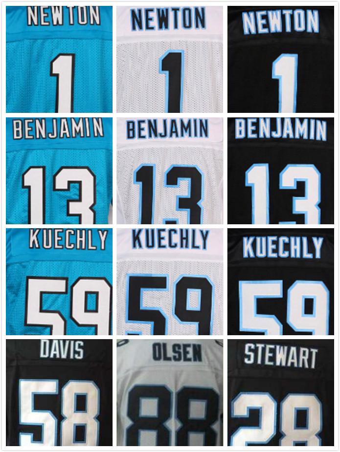Stitched 1 Cam Newton Jersey 13 Kelvin Benjamin 59 Luke Kuechly 88 Greg Olsen 58 Thomas Davis Sr 28 Jonathan Stewart Jerseys(China (Mainland))