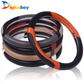 Fashion New Universal Sport Design Faux Leather Auto Car Steering Wheel Cover 38CM Anti catch Holder