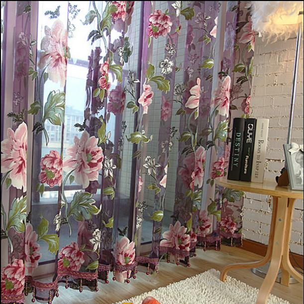 Fashion tulle for windows luxury translucidus sheer curtains for kitchen the bedroom living room design curtain fabric drapes(China (Mainland