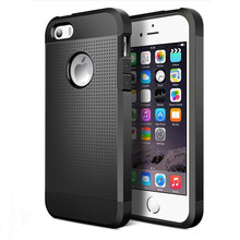Buy New Hybrid Dual Layer Slim Rugged Armor Case Apple iphone 5 5S SE Luxury Hard PC + Soft TPU ShockProof Protective Back Cover for $2.99 in AliExpress store