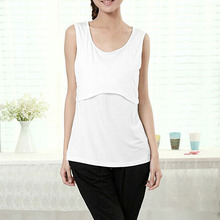 Summer Mummy Maternity Breastfeeding Cross Nursing Modal Soft Vest Top 10 Colors(China (Mainland))