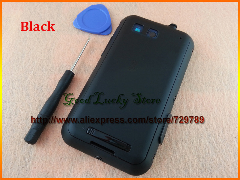 New Original for Motorola Defy MB525 ME525 Full Housing Case Cover Replacement&Side Buttons+Open Tool Free Shipping Black Color(China (Mainland))