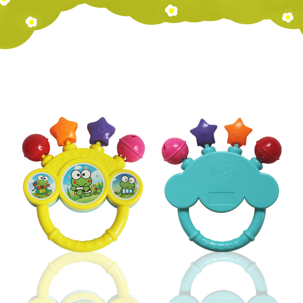 2017 Newest Infant Baby Bell RattleToy Hand On The Toy Baby Birthday Gift Instrumentos Musicais Lowest Price(China (Mainland))