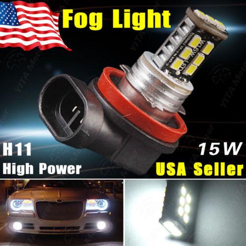 1Pcs led Car Lamp Pure Xenon White H11 2835 High Power 15W LED Bulbs DRL Fog/Driving Head Light 12V Daytime Running led Car -A(China (Mainland))