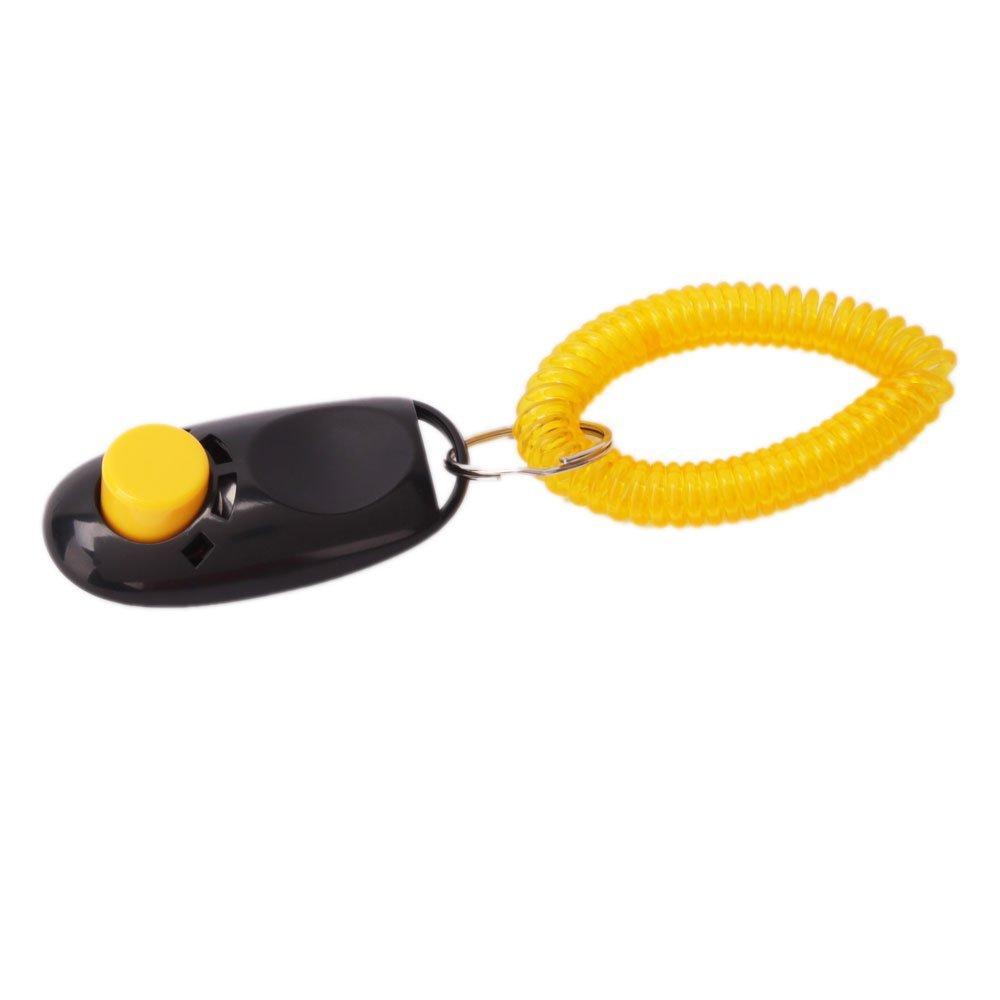 USA Stock! New Black High Quality Comfortable Dog Click Clicker Training Trainer(China (Mainland))