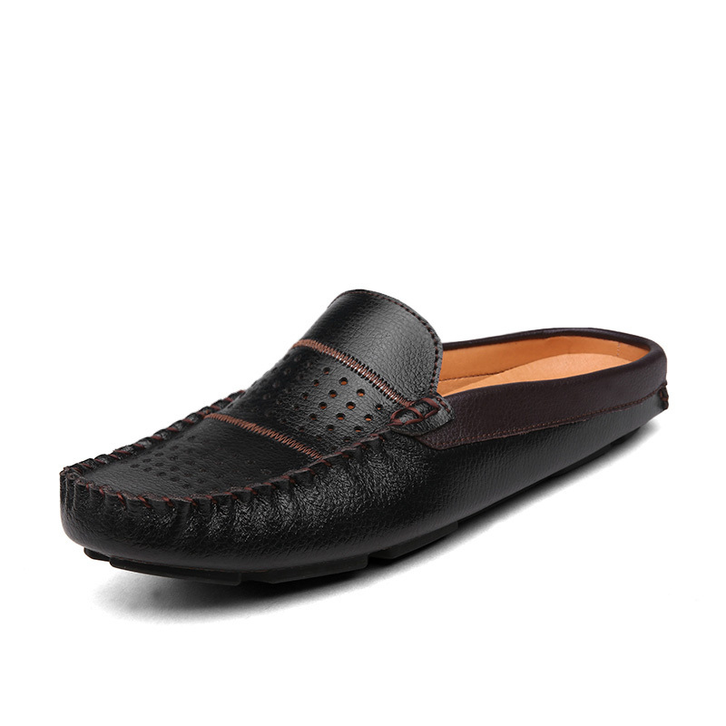 Mens Leather Shoes Loafers 2015 Summer Genuine Slip Slippers Casual Men Mocassins Flats DF5 - Diamond Fairy International Co. Ltd store