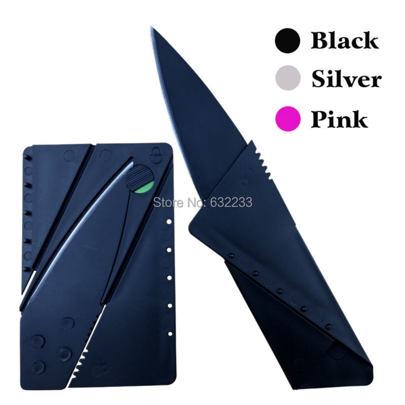Credit Card Knife Metal Wallet Folding Safety Tools With Sharp Blade Tactical Mini Pocket Camping Military Survival Knife 3 3rd(China (Mainland))