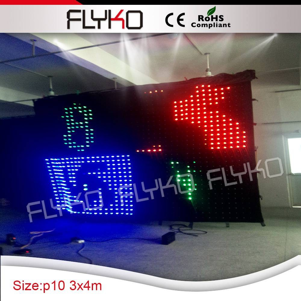 High quality Hot sale led lamps video curtain cloth for bar stage