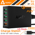 Aukey Quick Charger 2 0 for Xiaomi iPhone 6 7 7plus SONY HTC 54W 5 Port
