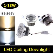 Eyourlife 1W 3W 5W 7W 9W 12W 15W 18W LED Warm/Cold White Ceiling Lights Downlight Lamp Spot light led ceiling lamp 99 - xenon30 store
