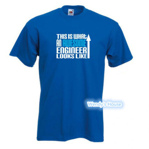 This is what an Awesome Engineer looks like T shirt merry christmas men T shirt man hot DIY logo shirt 100%Cotton Free Shipping(China (Mainland))