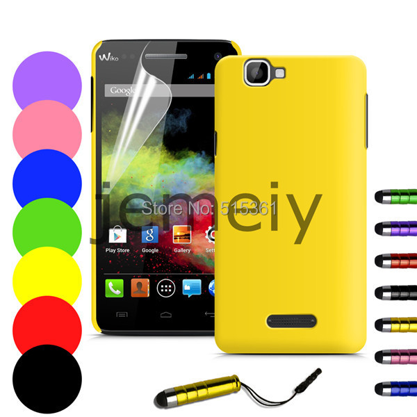 Stock New Colorful PC Back Case Wiko Rainbow Film Stylus - case family store
