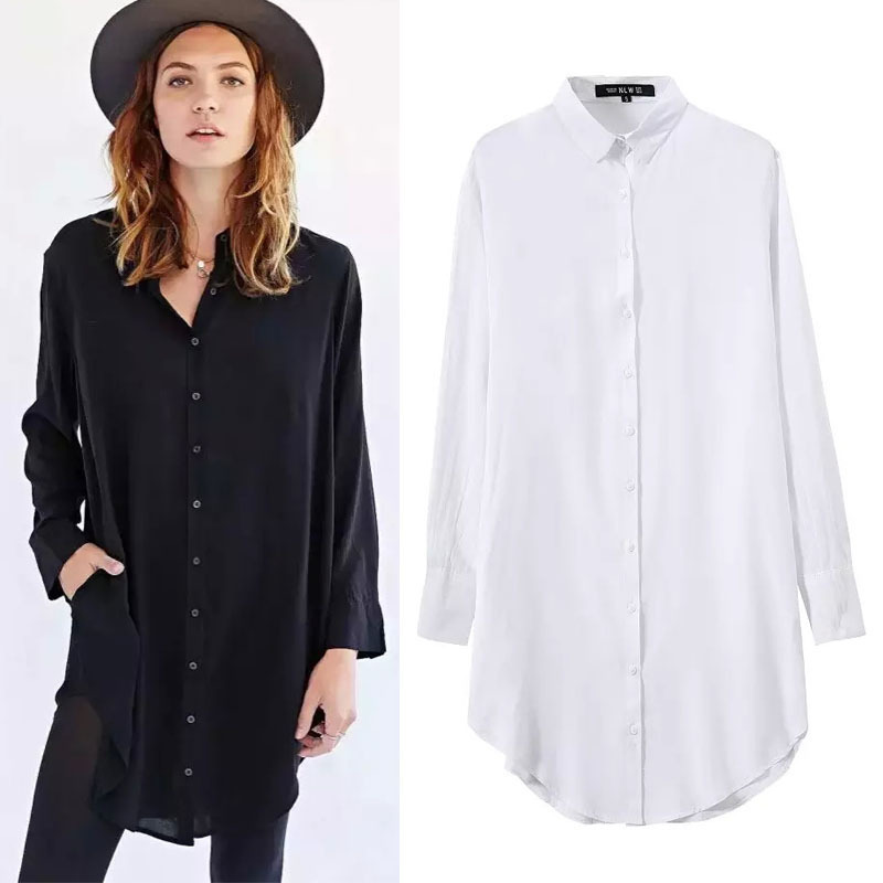 Awesome 2016 New Office Women Shirts Blouses White Pink Purple Elegant Ladies
